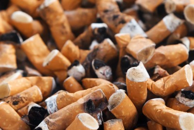 Facts about smoking - cigarette butts
