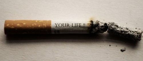 Quitting smoking cold turkey - Your life burning away